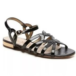 Sam Edelman Daphnie Black Patent Strappy Sandals